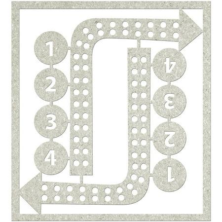 FabScraps Zooty Cuties Die-Cut Gray Chipboard Shape-Corner Arrows & No's 4