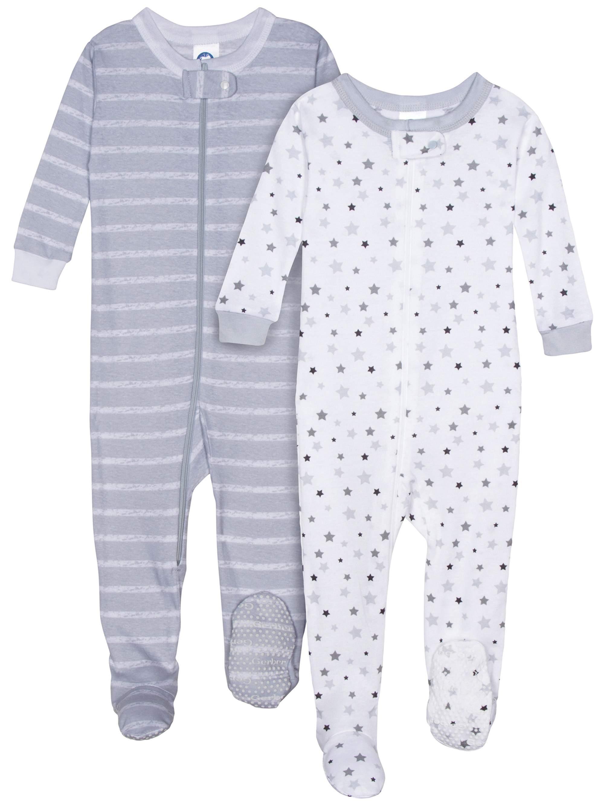 Organic Cotton Unionsuit Pajamas, 2pk (Baby Boys)