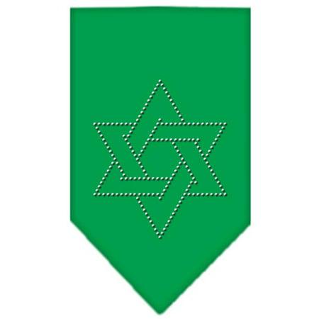 Best Star Of David Rhinestone Bandana Emerald Green Small deal