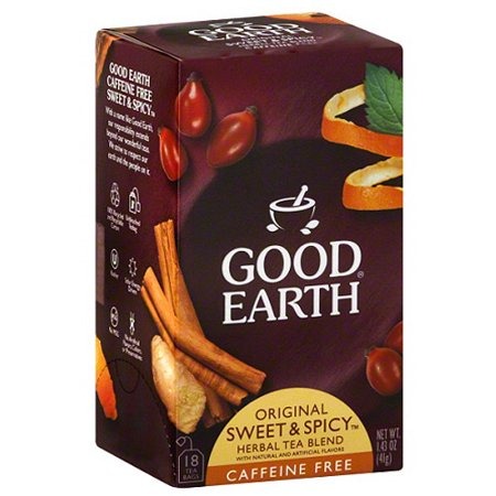 Good Earth Original Sweet & Spicy Caffeine Free Herbal Tea Blend, 1.43 oz, (Pack of 6) - Good Earth Herbal Tea