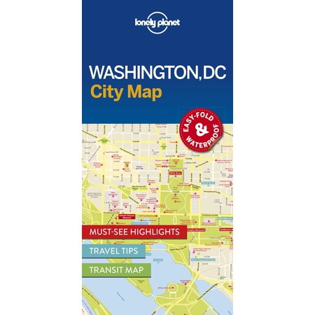 Map: lonely planet washington dc city map (other): -