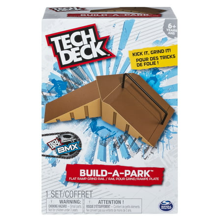 Tech Deck - Build-A-Park - Flat Ramp Grind Rail (Brown) ()