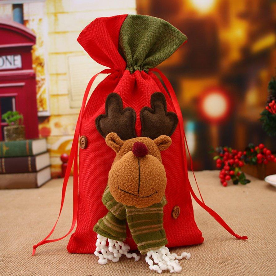 Christmas Pouch Drawstring Bag Exquisite Candy Bag Festival Decoration