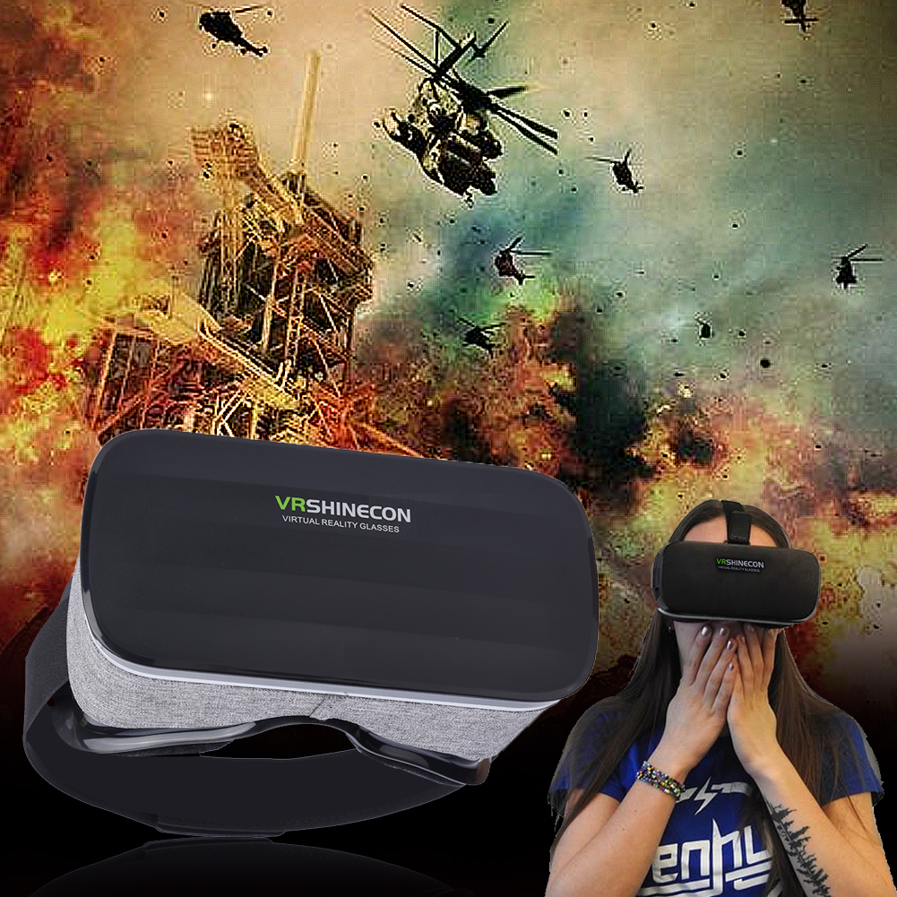 b03271451eae TOPINCN Virtual Reality Headset 3D VR Glasses Goggles for 4
