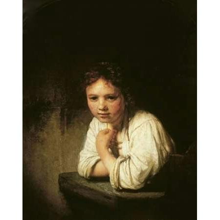 Girl at Window Poster Print by  Rembrandt Van Rijn](Girls Vand)