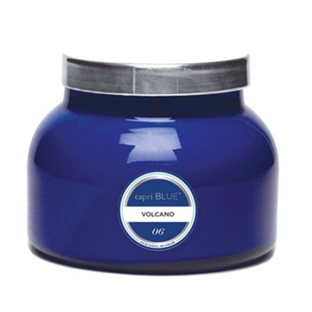 Capri Blue Petite 8 ounce Jar Candle with Lid-Blue-Volcano ()