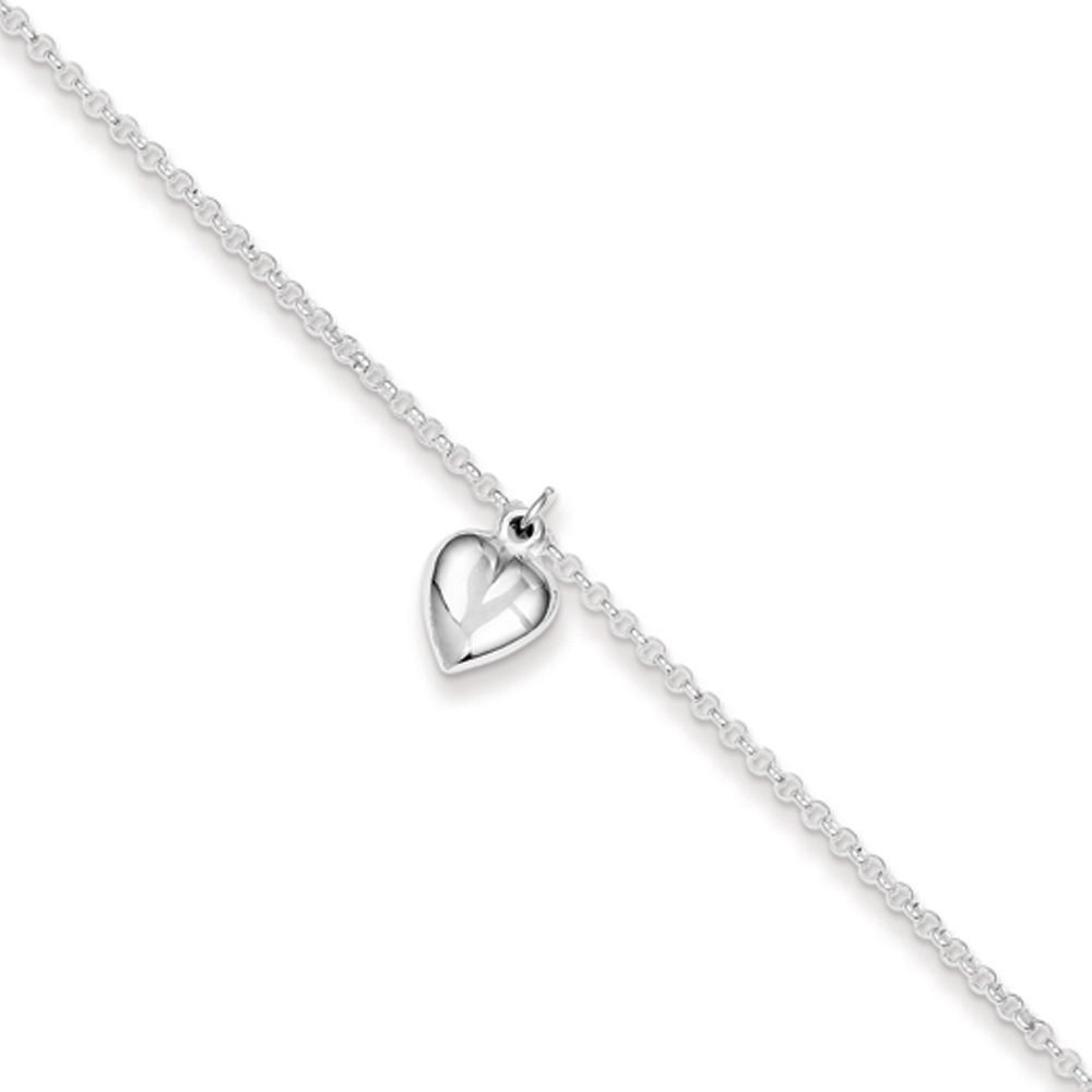 9-10 Inch Black Bow Jewelry Sterling Silver Textured Butterfly and 1mm Box Chain Anklet