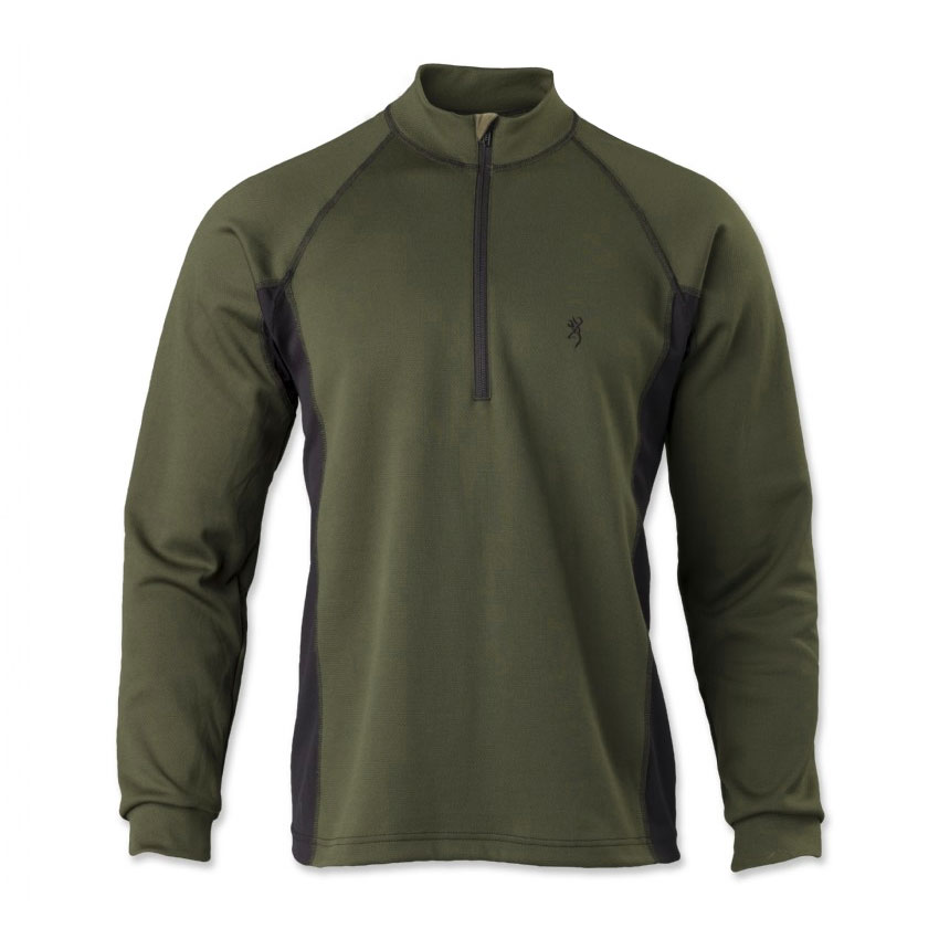 Browning Full Curl Merino Base Layer 1 4-Zip (L)- Loden by Browning