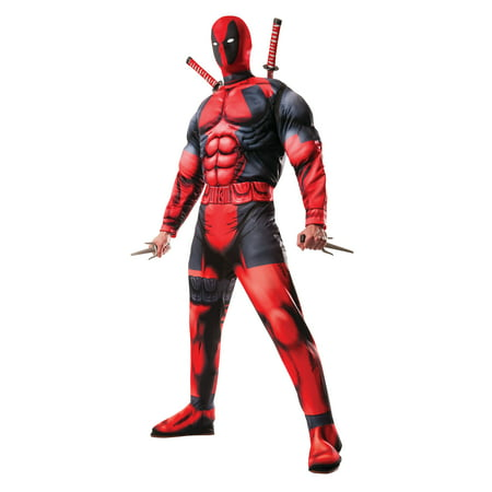 Red Hood Dc Halloween Costume (Rubies Costume Co. Deadpool Adult Halloween)