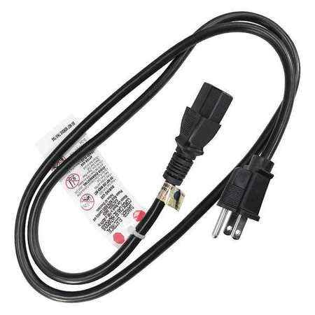 Power Cord,5-15P,SJT,3 ft.,Blk,10A,18/3 ZORO SELECT 5XFP0ID