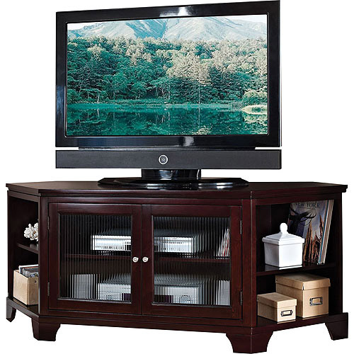 ACME Namir Espresso Corner TV Stand for Flat Screen TVs up to 60 ...