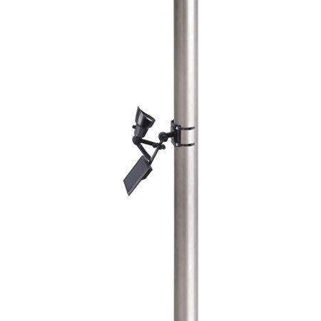 Moonrays 92320 Premium Output Solar Powered LED Flagpole Light, Black - Black Flagpole