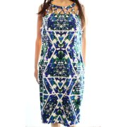 Adrianna Papell NEW Blue White Women's Size 14 Sheath Floral Printed Dress