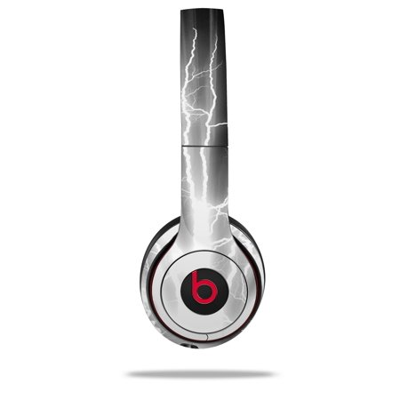 Skin Decal Wrap for Beats Solo 2 and Solo 3 Wireless Headphones Lightning  White (BEATS NOT INCLUDED) by WraptorSkinz