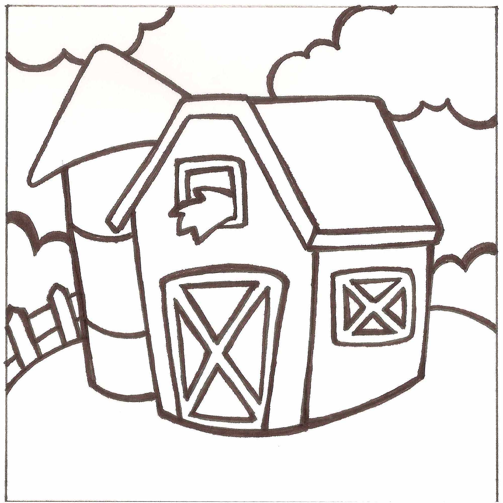 Paint-a-Doodle 12 x 12 Barn Painting Kit