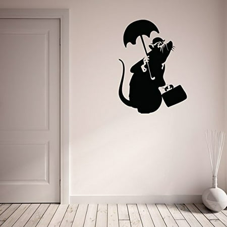 Drowned Rat Banksy Wall Decal - Wall Sticker, Vinyl Wall Art, Wall ...