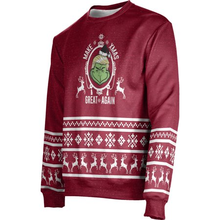 ProSphere Men's Yuletide Ugly Holiday The Trump Who Saved XMAS Sweater (Apparel)](Ugly Sweater Theme)