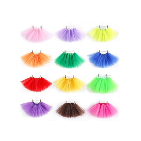 Tommyfit Fashion Girls Kids Tutu Skirt Gymnastics Ballet Dress Dance Wear Princess Costumes - 50s Kids Fashion