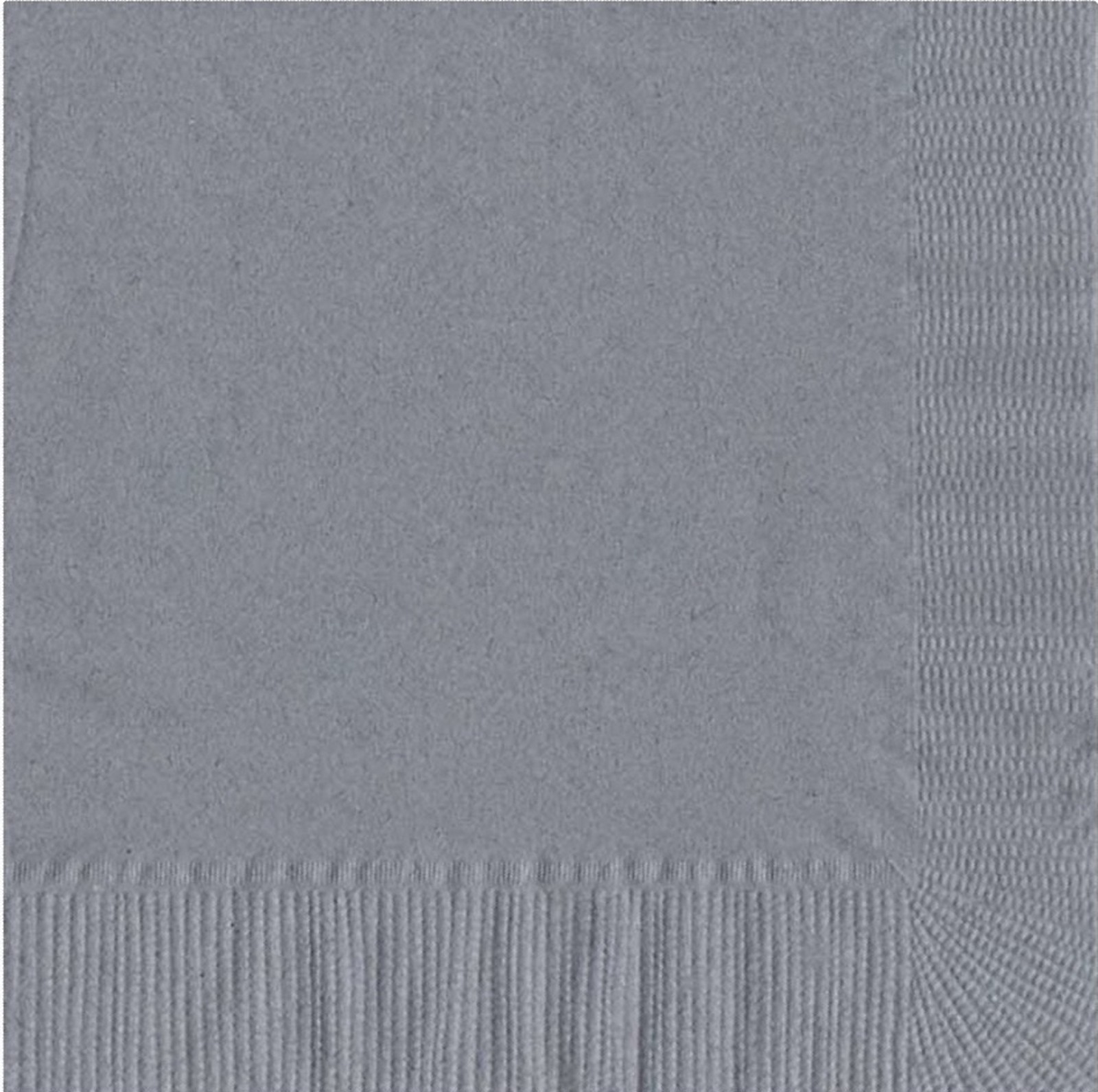 50 Plain Solid Colors Luncheon Dinner Napkins Paper - Silver