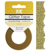 Best Creation Designer Glitter Tape 15Mmx5m-Gold Fancy Wave