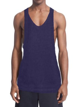 9fb4062f2abe8 Product Image A Men s Tank Top NET NAVY BLUE 46  X-Large. BODYSMART