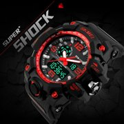 Digital Watch S SHOCK Men Watch 50m Waterproof Big Dial Date Calendar LED Sports Watches