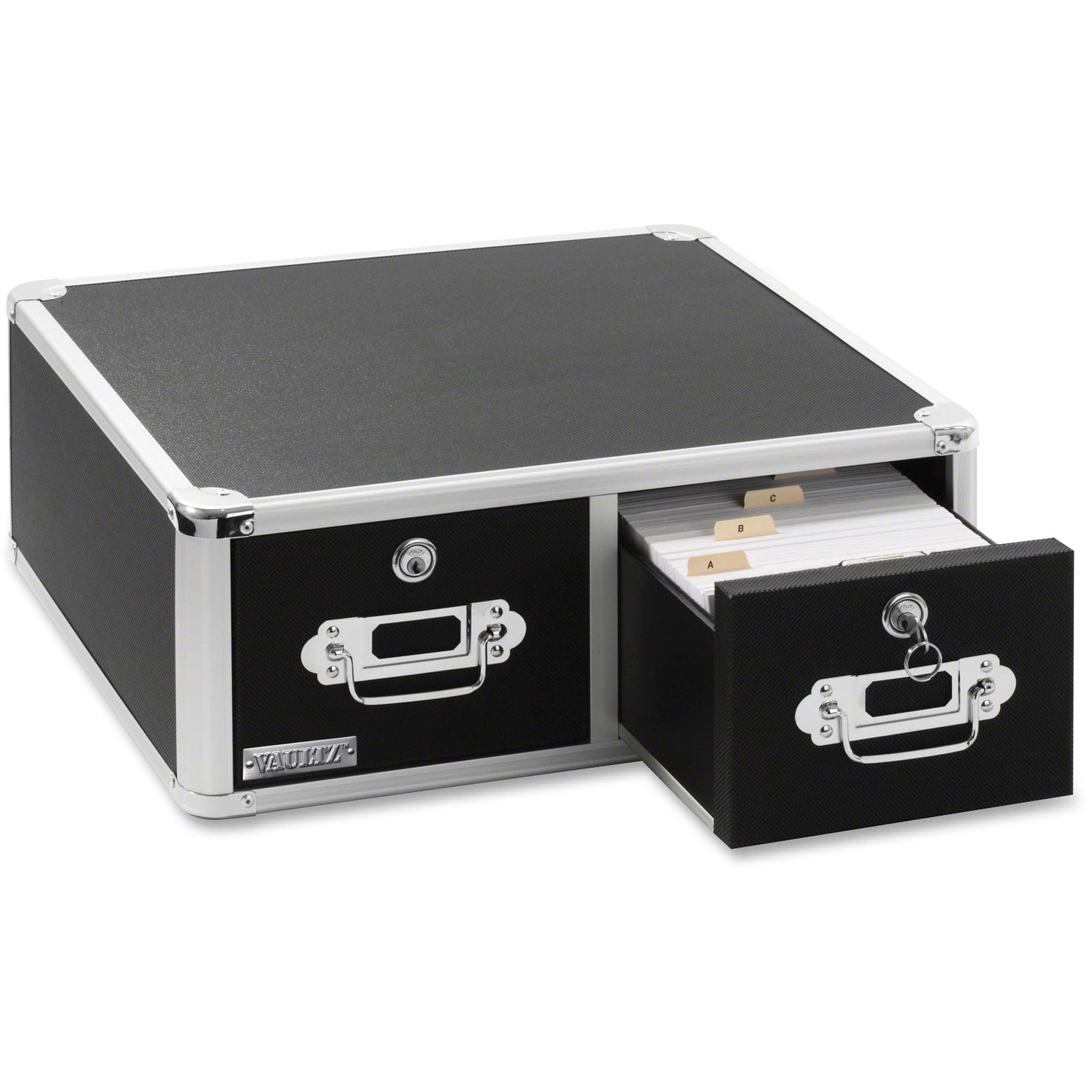 Vaultz Locking Index Card Cabinet