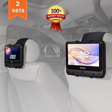 TFY Car Headrest Mount Holder for SYLVANIA SDVD9805 Portable DVD Player (Also fit all 7 inch - 10 inch Swivel Screen Portable DVD Player) ()