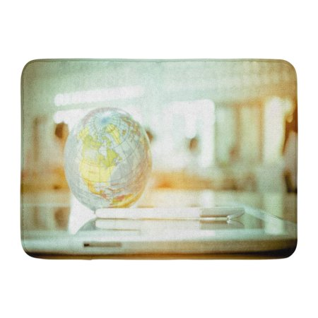 GODPOK Earth Globe Model Ball Map with Class Room on Tablet in Classroom for Global International Educaiton Rug Doormat Bath Mat 23.6x15.7 inch (Classroom Door)