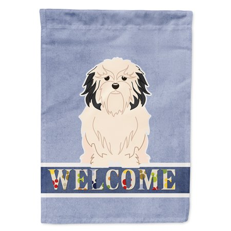 - Lowchen Welcome Flag Canvas House Size