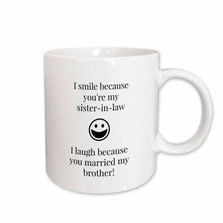 3dRose Funny saying for sister in law , Ceramic Mug, 11-ounce - Funny Halloween Sayings Pinterest