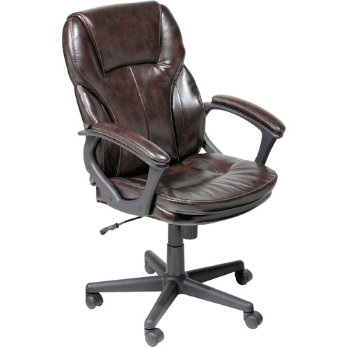 serta manager puresoft office chair, roasted chestnut - walmart