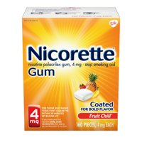 Nicorette Nicotine Gum to Stop Smoking, 4mg, Fruit Chill Flavor - 160 Count
