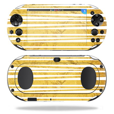 Skin Decal Wrap For Sony Ps Vita  Wi Fi 2Nd Gen  Cover Sticker Gold Stripes