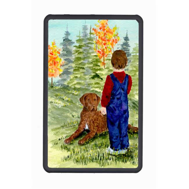 Carolines Treasures SS8547KFC Little Boy With His Chesapeake Bay Retriever Kindle Fire Snap On Case