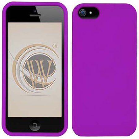 New Hard Protector Case - NEW PURPLE RUBBERIZED HARD PROTECTOR CASE COVER SHELL FOR APPLE iPHONE SE 5 5s