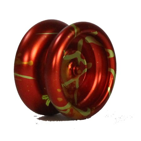 Rain City Skills- Eternal Throw THE GAMER YO-YO Aluminum Ball Bearing YOYO (Mario Fire Flower (Orange/Yellow/Gold)