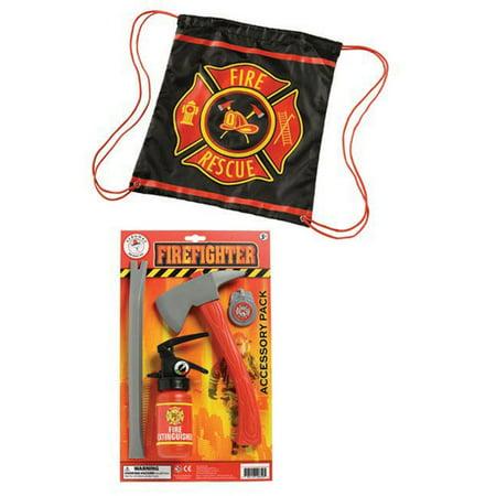 Firefighter Drawstring Backpack (2 Piece Bundle) - Firefighter Backpack