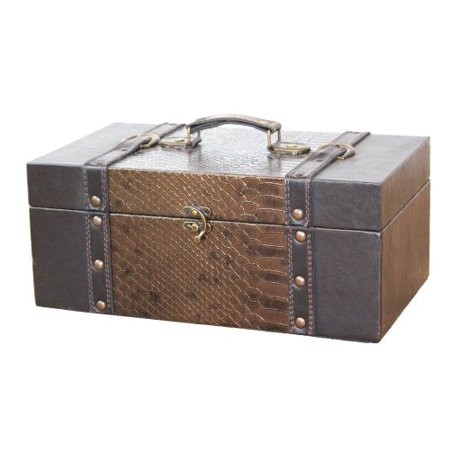 Leather Trunk, Designer Treasure Chest (Princess, Medium)