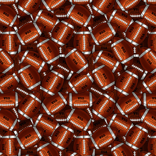 "David Textiles ""Packed Footballs"" Fabric by the Yard, 44""W"