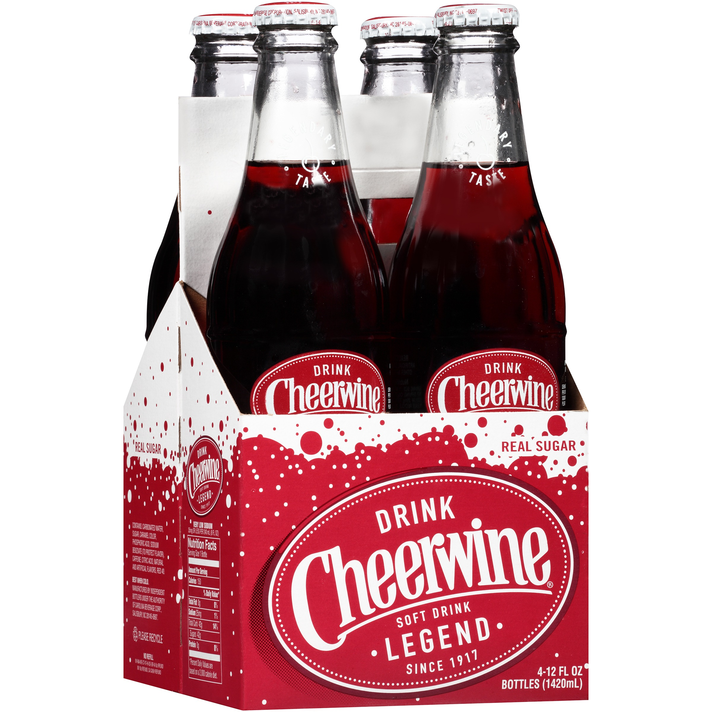 Cheerwine 12 Ounce Glass Bottle 4 Pack Walmart Com