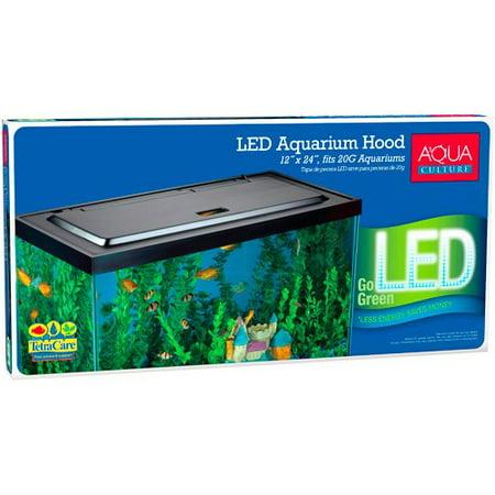 Aqua Culture LED Aquarium Hood for 20/55-Gallon Aquariums