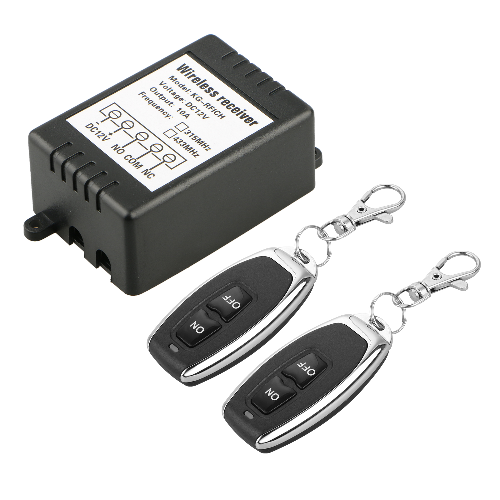 12V 10A Relay 1CH Wireless RF Remote Control Switch Transmitter + Receiver