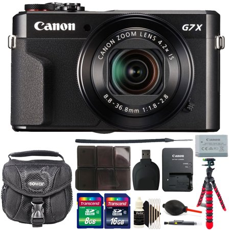Canon G7X Mark II PowerShot 20.1MP BLACK Digital Camera with 24GB Accessory Kit