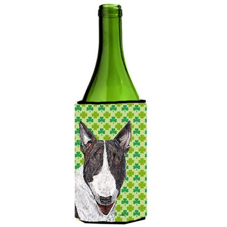Bull Terrier St Patricks Irish Wine bottle sleeve Hugger - 24 oz. - image 1 de 1