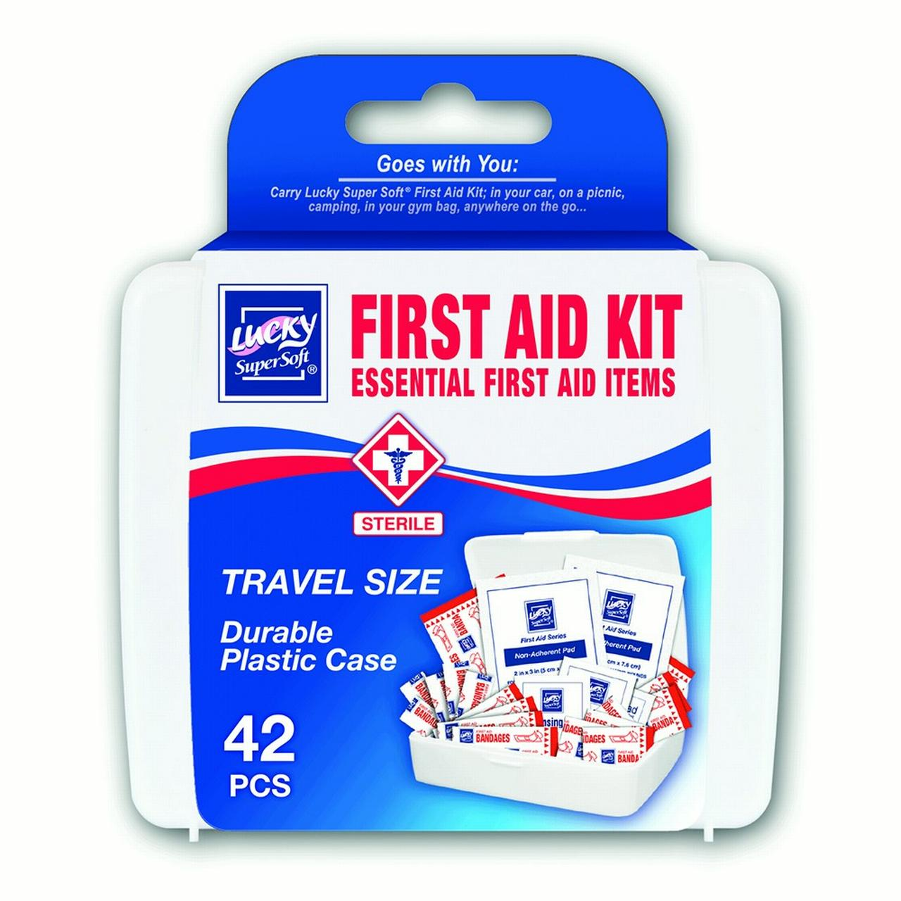 Lucky Super Soft First Aid, First Aid Kit, 42 Ct by Lucky Super Soft
