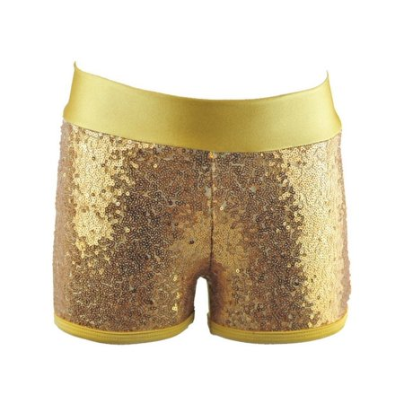 Reflectionz Little Girls Gold Sequin Shorts for $<!---->