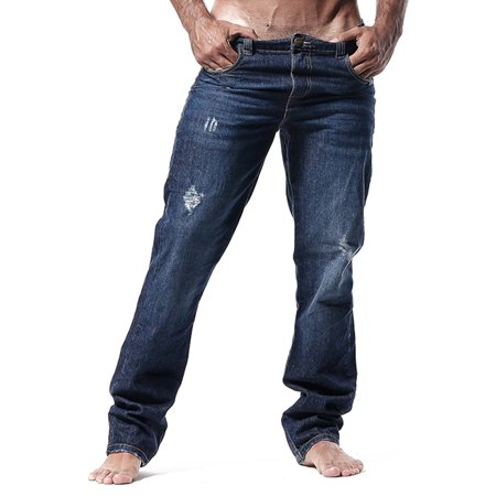 Agacio AG9702 Straight leg Jeans Raw Medium Blue (Ag Jeans Men Graduate)