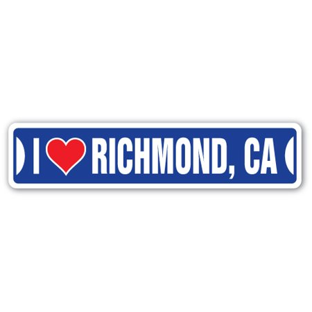I LOVE RICHMOND, CALIFORNIA Street Sign ca city state us wall road décor gift