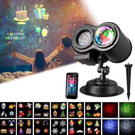 Double Tubes Projector Light with 12 Patterns, Free Wireless Remote Control, Waterproof, Best for Patio Party Bar Wedding Living Room Garden Halloween & Christmas Decor for $<!---->